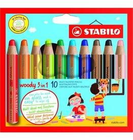 Stabilo Woody 3 in 1 Potloden (10st)