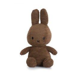 nijntje Miffy Sitting Corduroy Brown 23 cm