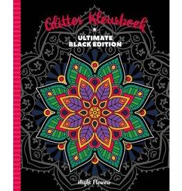 "Glitter Kleurboek ""Night Flowers"""
