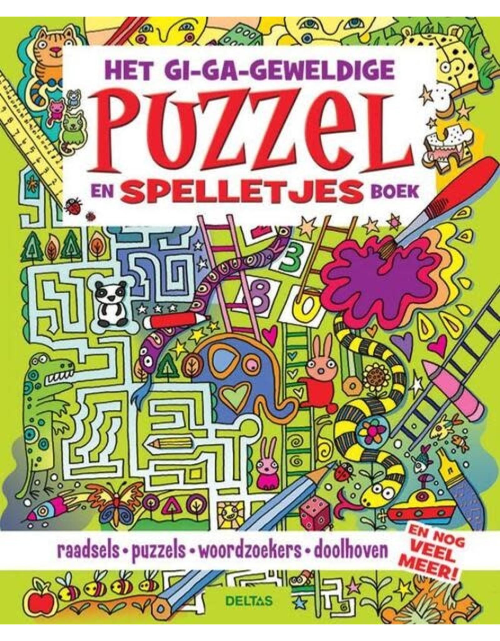 Deltas Het Gi-Ga-Geweldige Puzzel en Spelletjes Boek