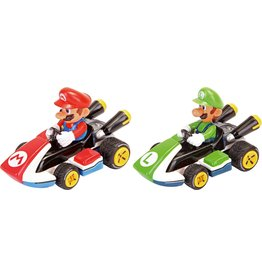 Carrera Pull & Speed Mario Kart - 2-Pack Mario & Luigi