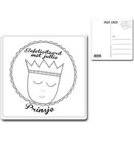 """Postcard """"Gefeliciteerd met jullie prinsje"""""""