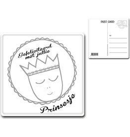"Postcard ""Gefeliciteerd met jullie prinsesje"""