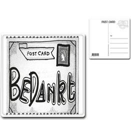 """Postcard """"Bedankt"""""""