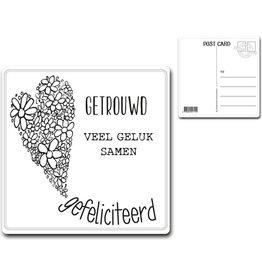"Postcard ""Getrouwd"""