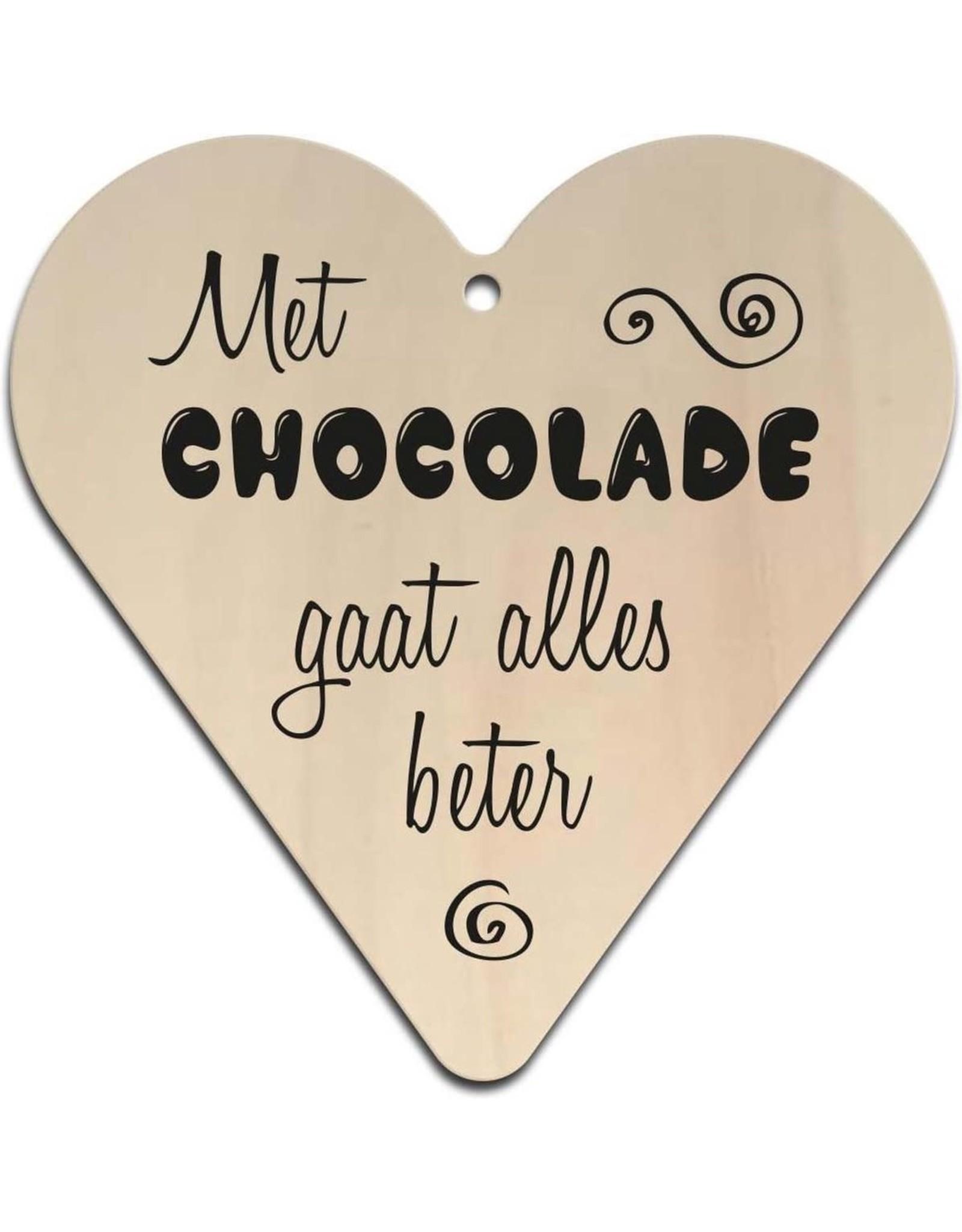 """Hart """"Met chocolade gaat alles beter"""""""