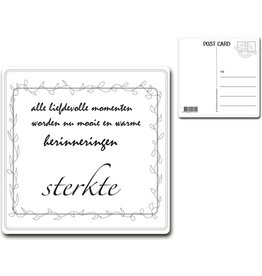 "Postcard ""sterkte"""