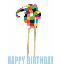 "Wenskaart Elmer ""Happy Birthday!"""
