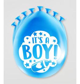 Party Ballonnen - Geboorte Jongen (8 st)