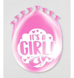Party Ballonnen - Geboorte Meisje (8 st)