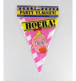 Party Vlaglijn Geboorte Meisje