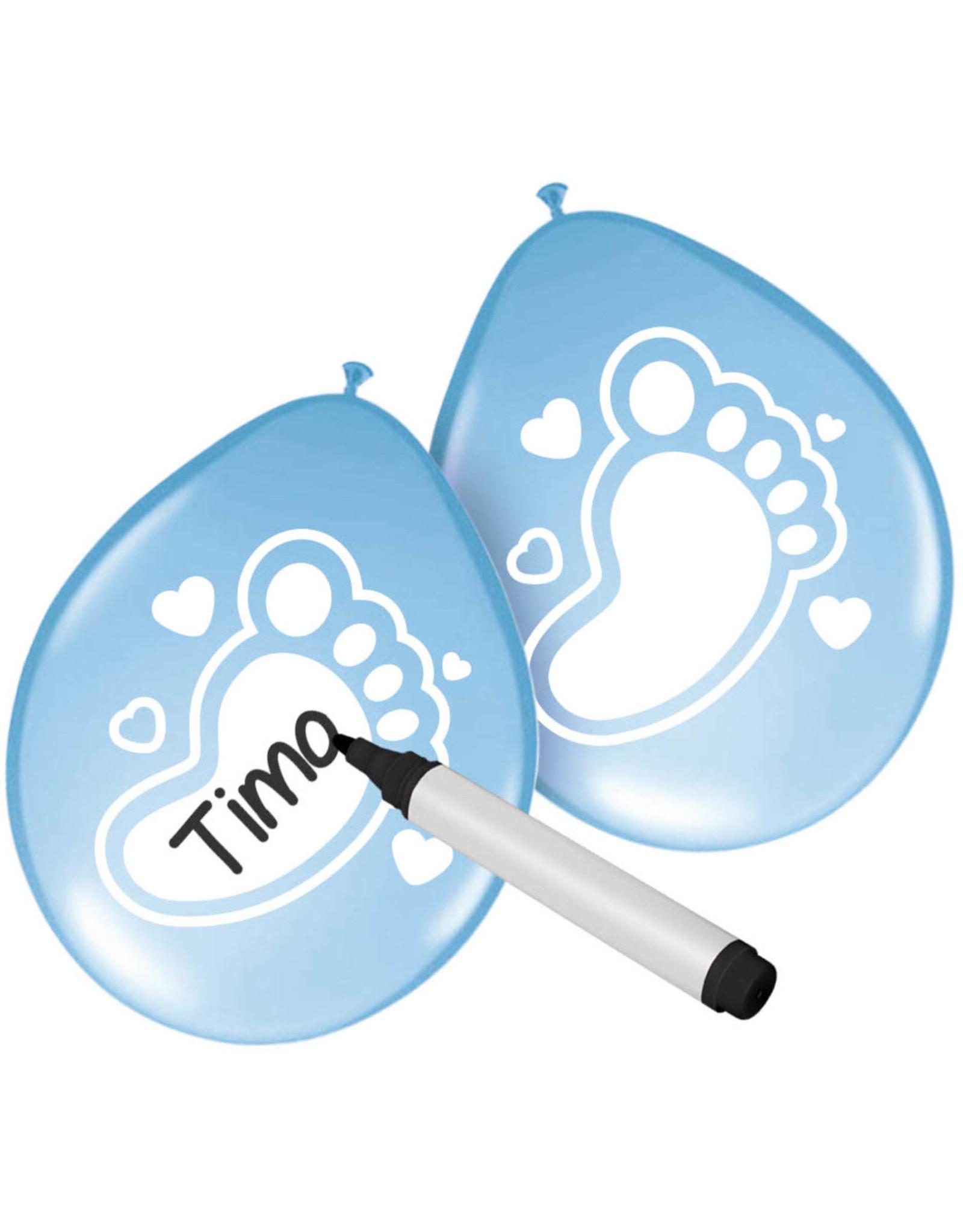 Beschrijfbare Ballonnen Baby Blauw