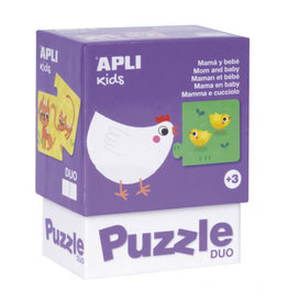"""APLI Duo Puzzels """"Mama en Baby"""""""