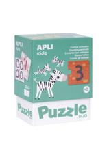 """APLI Duo Puzzels """"Dieren Tellen"""""""