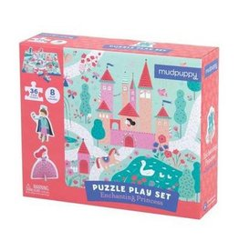 "Mudpuppy Puzzle Play Set ""Enchanting Princess"""