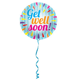 """Get Well Soon"" Folie Ballon Meerkleurig"