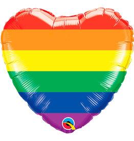 Regenboog Hart Folie Ballon