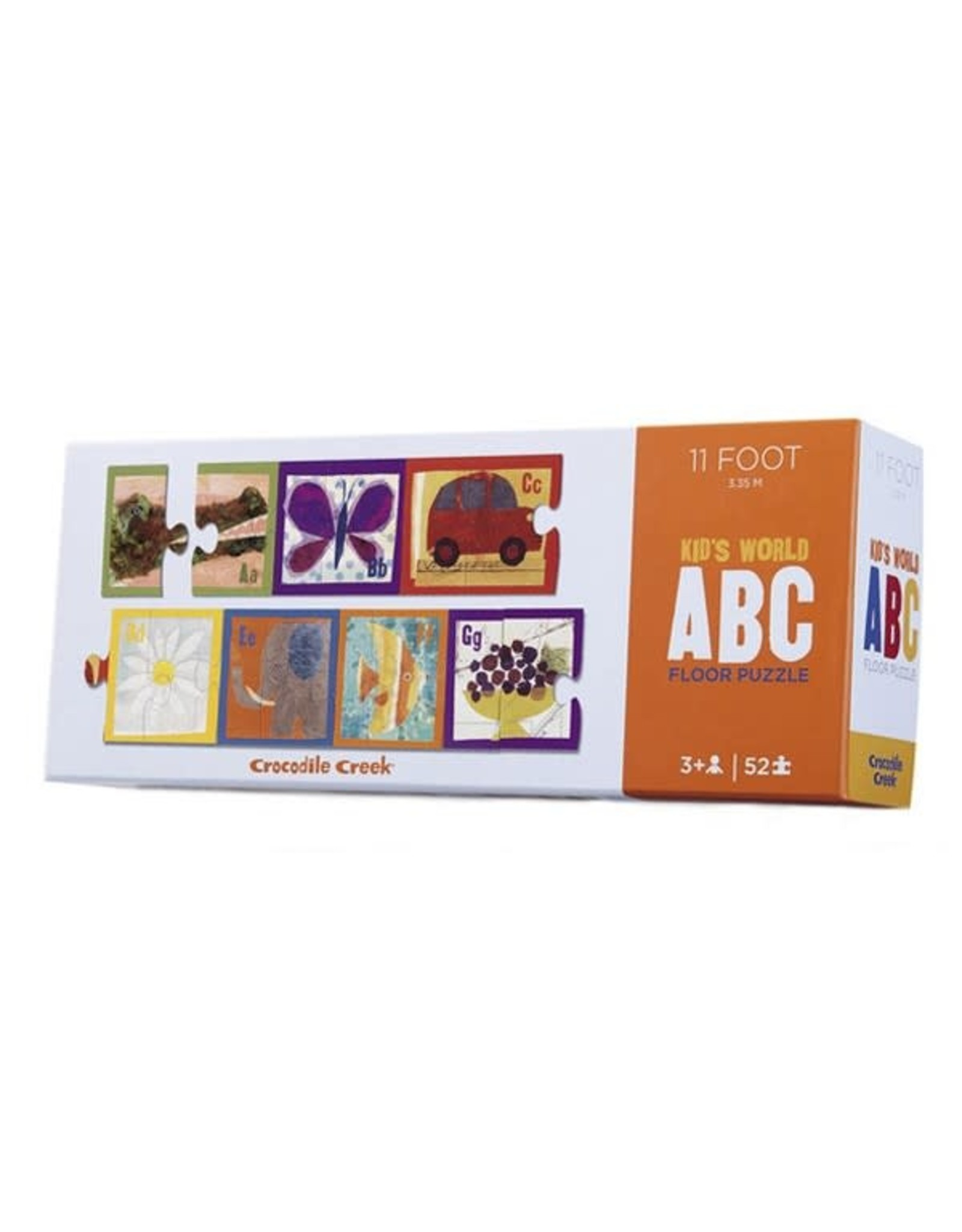 "Crocodile Creek Lange Vloerpuzzel (52pc) ""English ABC"""