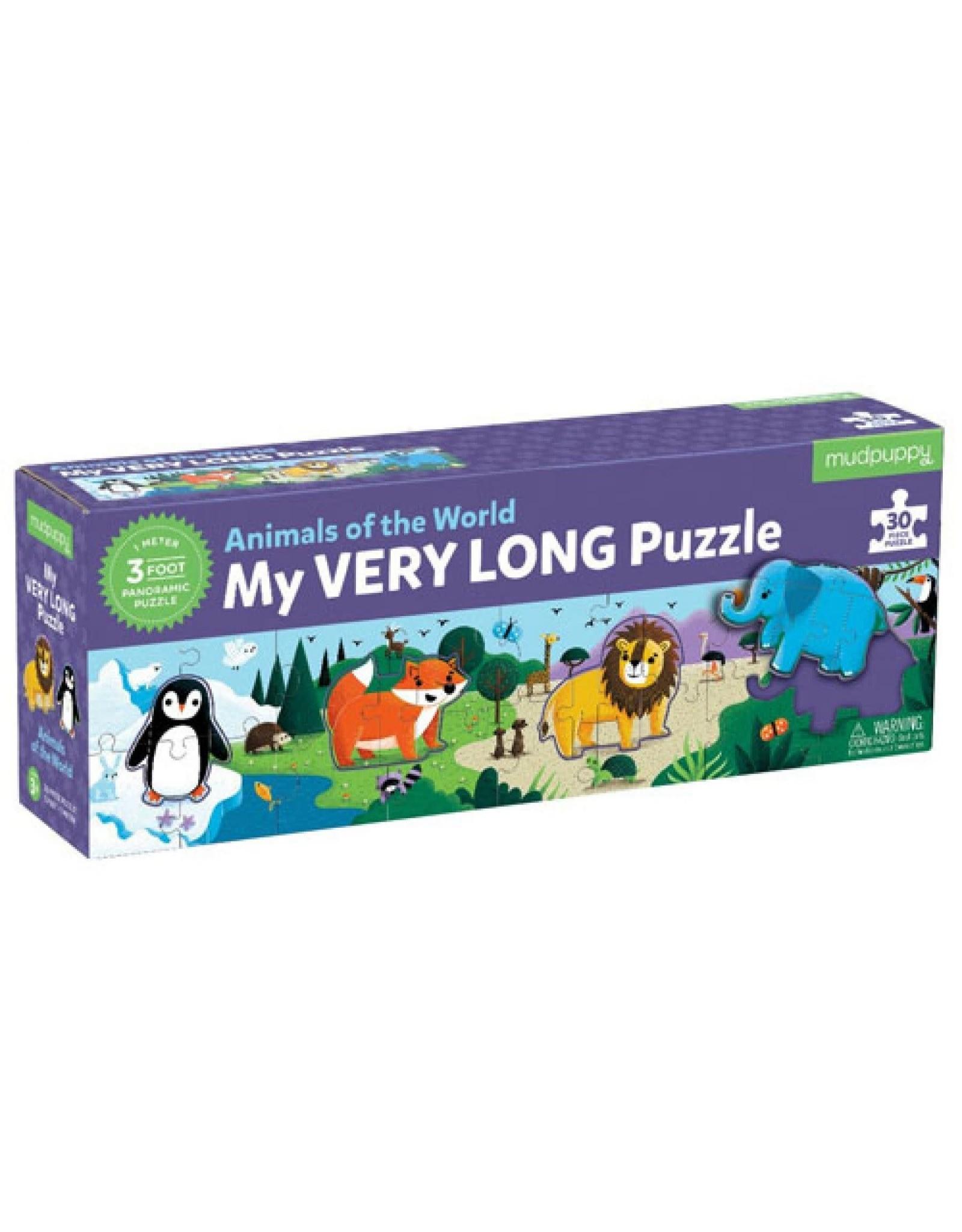 """Mudpuppy Lange Vloerpuzzel """"Animals of the World"""""""