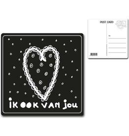 """Postcard """"Ik ook van jou"""""""
