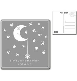 """Postcard """"I love you to the moon.."""""""