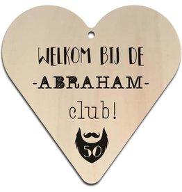 """Hart """"Welkom bij de Abraham Club"""""""