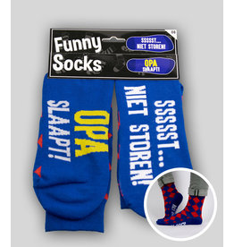 Funny Socks - Opa slaapt sssst