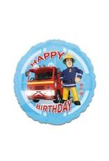 "Brandweerman Sam ""Happy Birthday"" Folie Ballon"