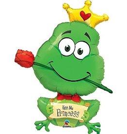 """Kiss Me Princess"" Shaped Foil Balloon"