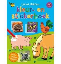 Deltas Lieve dieren kleur- en stickerboek