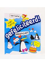 Cartoon Wenskaart - Gefeliciteerd! Proficiat!