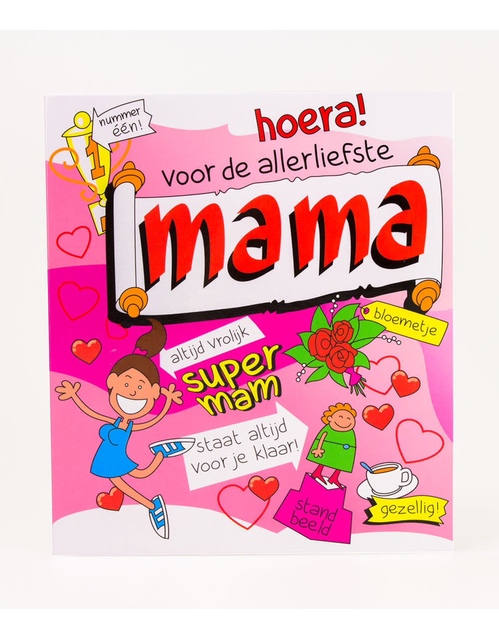 Cartoon Wenskaart - Mama
