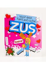 Cartoon Wenskaart - Zus