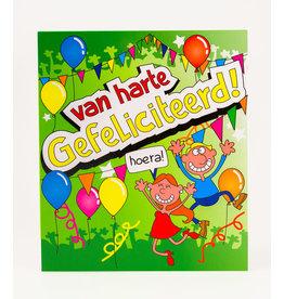 Cartoon Wenskaart - Van harte Gefeliciteerd!