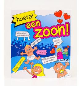 Cartoon Wenskaart - Hoera! Een Zoon