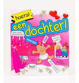 Cartoon Wenskaart - Hoera! Een Dochter