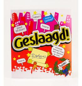 Cartoon Wenskaart - Geslaagd!