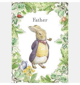 """Wenskaart Peter Rabbit """"Father"""""""