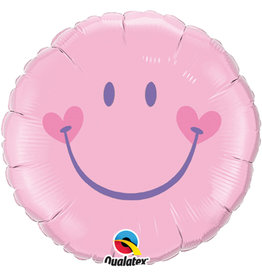 Roze Emoticon Folie Ballon