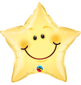 Smiley Ster Folie Ballon