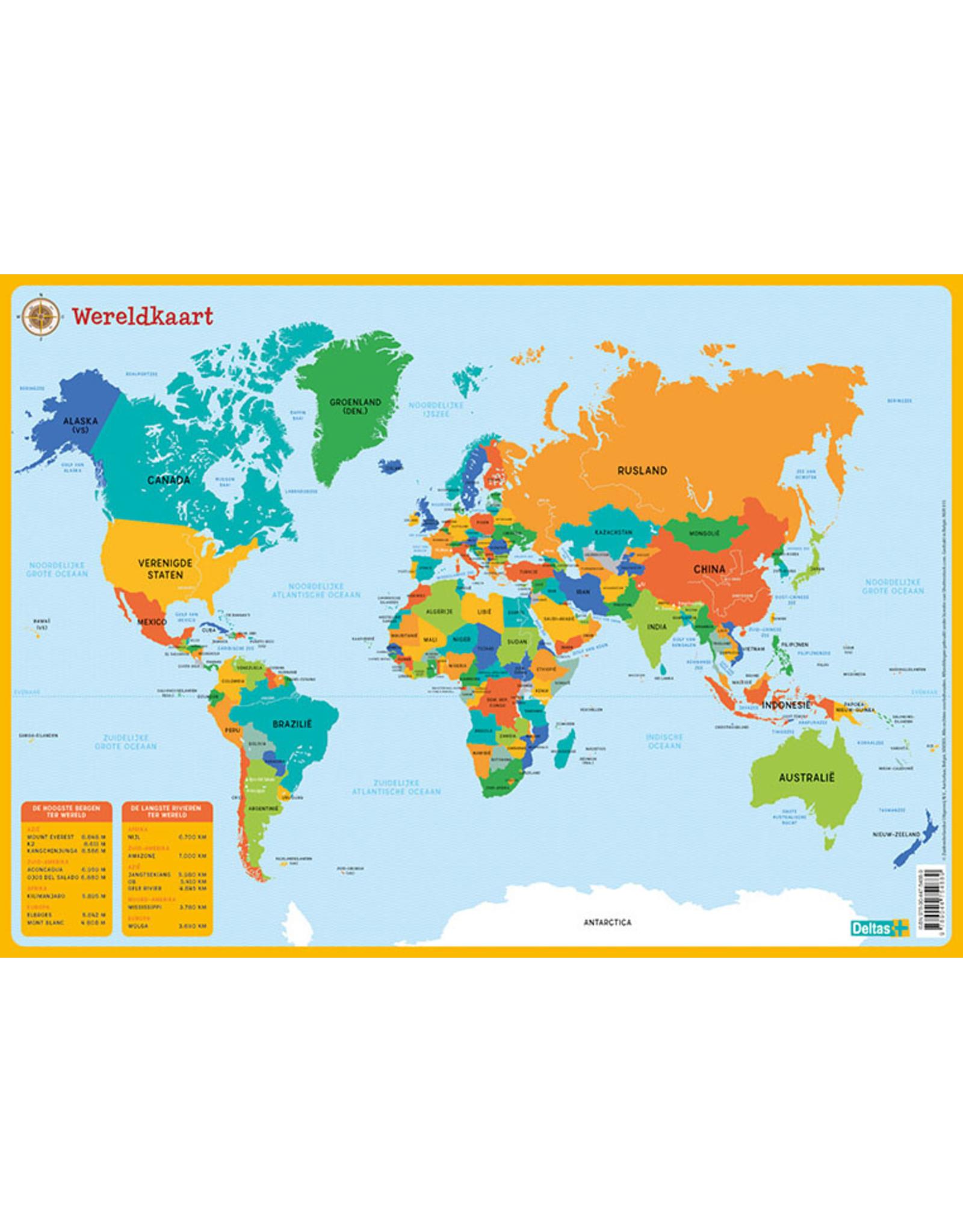 Deltas Educatieve Onderleggers - De Wereldkaart