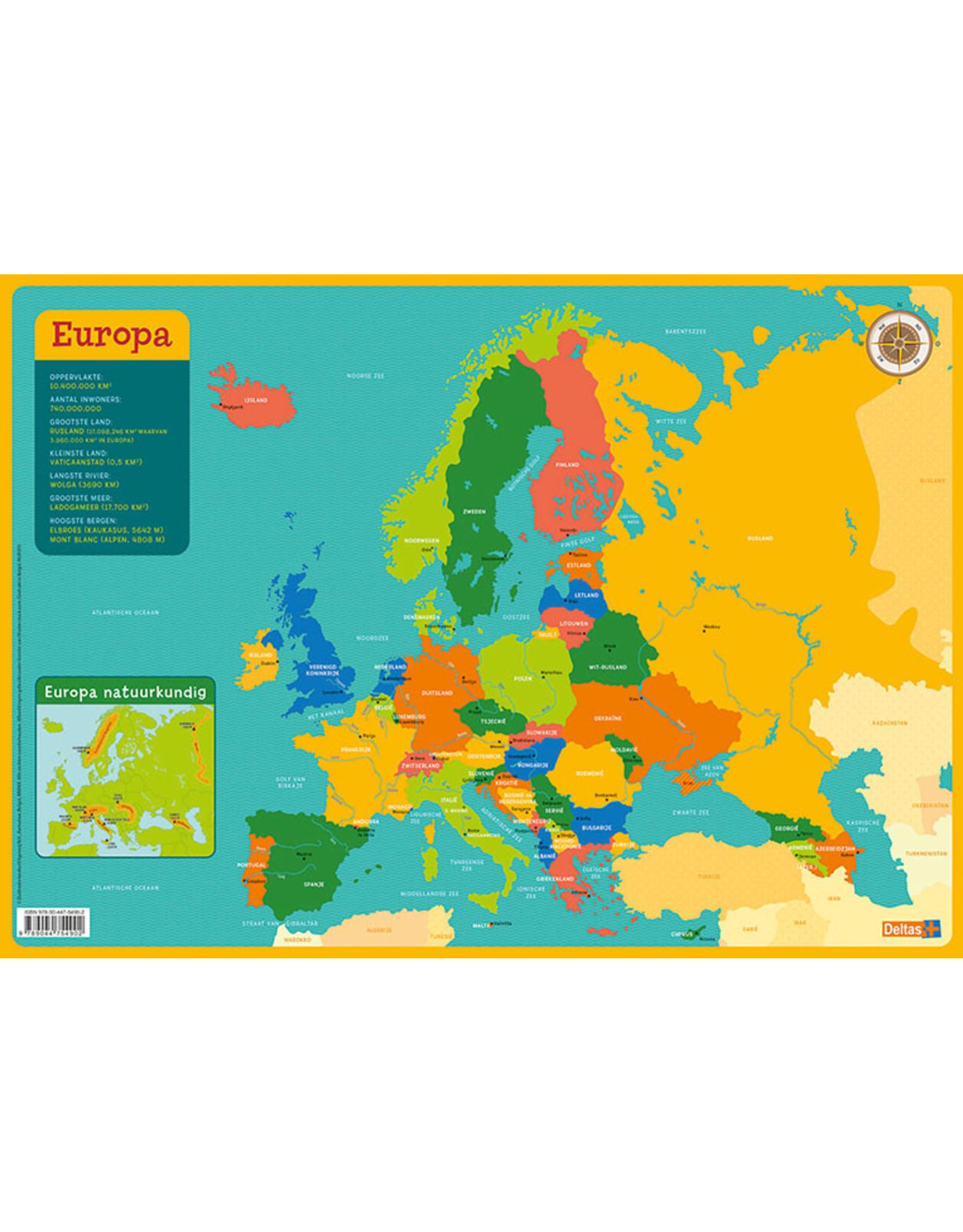 Deltas Educatieve Onderleggers - Kaart Europa