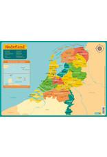 Deltas Educatieve Onderleggers - Kaart Nederland