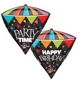"""Party Time"" Diamondz Folie Ballon"
