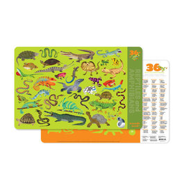 "Crocodile Creek Placemat ""36 Reptiles"""