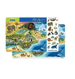 "Crocodile Creek Placemat ""Where Animals Live"""