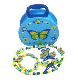 Playwood Sieradenkoffer Vlinder Blauw