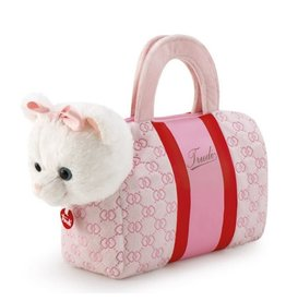 Trudi Kitten in roze hartjes tas