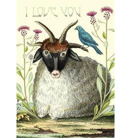 "Madame Treacle Wenskaart ""Meadow"" I Love You"