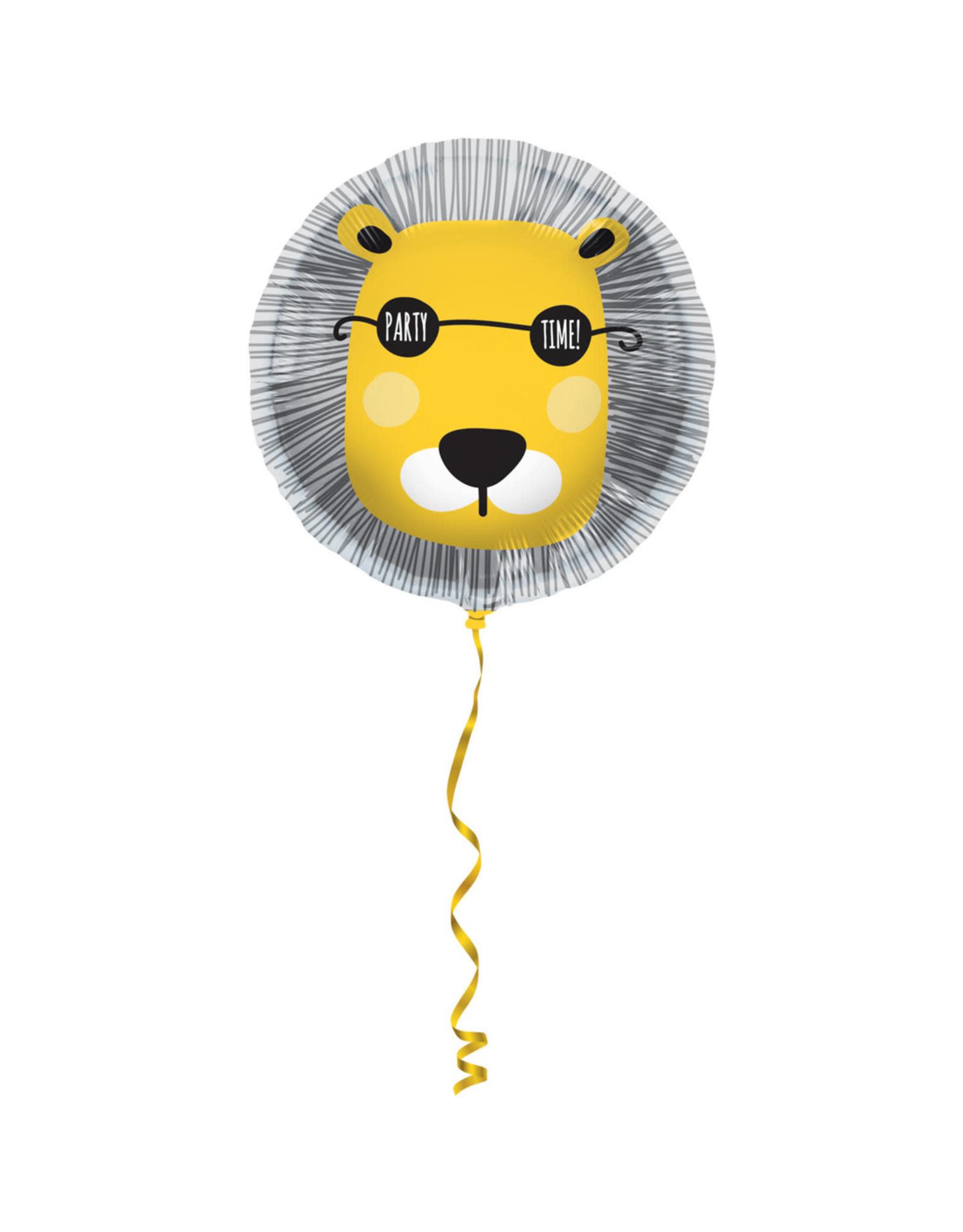 Folieballon Leeuw 'Party Time!'